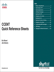 Ebook in inglese CCENT Quick Reference Sheets (Digital Short Cut, Exam 640-822) Doherty, Jim , Rivard, Eric