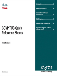 Ebook in inglese CCVP TUC Quick Reference Sheets McDaniel, David