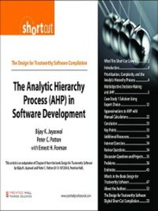 Foto Cover di The Analytic Hierarchy Process (AHP) in Software Development (Digital Short Cut), Ebook inglese di AA.VV edito da Pearson Education