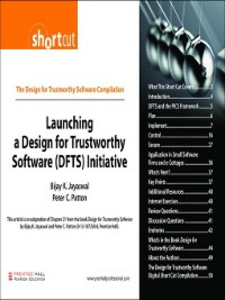 Ebook in inglese Launching a Design for Trustworthy Software (DFTS) Initiative (Digital Short Cut) Jayaswal, Bijay K. , Patton, Peter C.