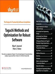Foto Cover di Taguchi Methods and Optimization for Robust Software (Digital Short Cut), Ebook inglese di Bijay K. Jayaswal,Peter C. Patton, edito da Pearson Education
