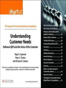 Ebook in inglese Understanding Customer Needs (Digital Short Cut) Jayaswal, Bijay K. , Patton, Peter C. , Zultner, Richard E.