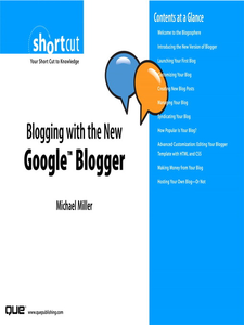 Ebook in inglese Blogging with the New Google Blogger (Digital Short Cut) Miller, Michael R.