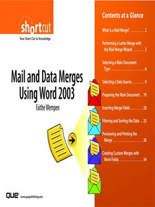 Ebook in inglese Mail and Data Merges Using Word 2003 (Digital Short Cut) Wempen, Faithe