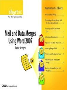 Ebook in inglese Mail and Data Merges Using Word 2007 (Digital Short Cut) Wempen, Faithe