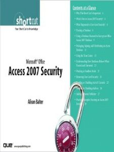 Ebook in inglese Microsoft Office Access 2007 Security (Digital Short Cut) Balter, Alison