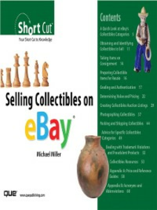 Ebook in inglese Selling Collectibles on eBay (Digital Short Cut) Miller, Michael R.