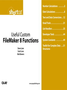 Foto Cover di Useful Custom FileMaker 8 Functions (Digital Short Cut), Ebook inglese di AA.VV edito da Pearson Education