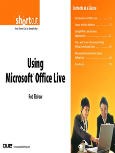 Ebook in inglese Using Microsoft Office Live (Digital Short Cut) Tidrow, Rob