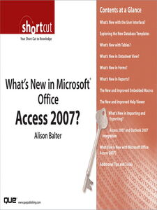 Ebook in inglese What's New in Microsoft Office Access 2007? (Digital Short Cut) Balter, Alison