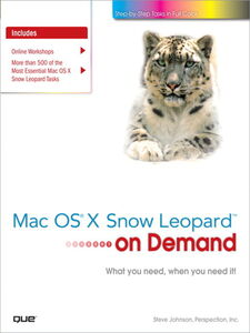 Ebook in inglese Mac OS X Snow Leopard On Demand Inc., Perspection , Johnson, Steve
