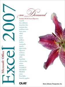 Ebook in inglese Microsoft Office Excel 2007 On Demand Inc., Perspection , Johnson, Steve
