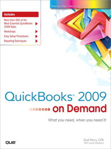 Ebook in inglese QuickBooks 2009 on Demand Madeira, Laura , Perry, Gail