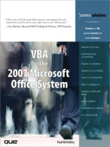 Ebook in inglese VBA for the 2007 Microsoft Office System McFedries, Paul