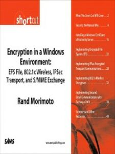 Ebook in inglese Encryption in a Windows Environment Morimoto, Rand