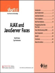 Foto Cover di AJAX and JavaServer Faces (Digital Short Cut), Ebook inglese di David Geary,Cay S. Horstmann, edito da Pearson Education