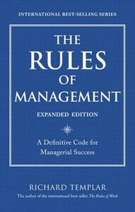 Ebook in inglese The Rules of Management, Expanded Edition Templar, Richard