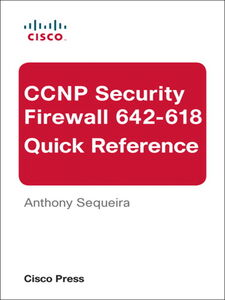 Ebook in inglese CCNP Security FIREWALL 642-618 Quick Reference Sequeira, Anthony