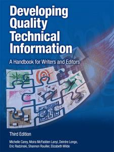 Ebook in inglese Developing Quality Technical Information Carey, Michelle , Radzinski, Eric , Rouiller, Shannon , Wilde, Elizabeth