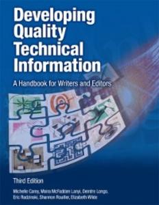 Ebook in inglese Developing Quality Technical Information Carey, Michelle , Lanyi, Moira McFadden , Longo, Deirdre , Radzinski, Eric