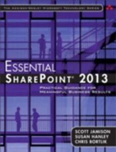 Foto Cover di Essential SharePoint® 2013, Ebook inglese di AA.VV edito da Pearson Education