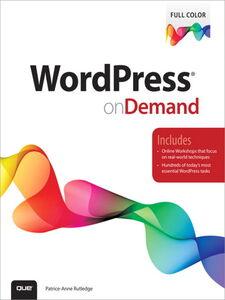 Foto Cover di WordPress on Demand, Ebook inglese di Patrice-Anne Rutledge, edito da Pearson Education