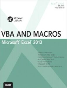 Ebook in inglese Excel 2013 VBA and Macros Jelen, Bill , Syrstad, Tracy