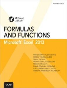 Foto Cover di Excel 2013 Formulas and Functions, Ebook inglese di Paul McFedries, edito da Pearson Education