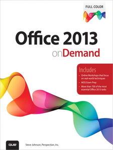 Foto Cover di Office 2013 On Demand, Ebook inglese di Steve Johnson,Perspection Inc., edito da Pearson Education