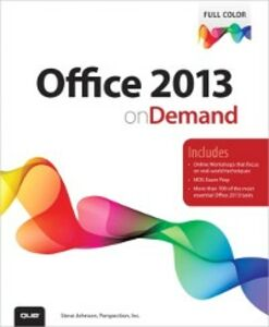 Foto Cover di Office 2013 On Demand, Ebook inglese di Perspection Inc.,Steve Johnson, edito da Pearson Education