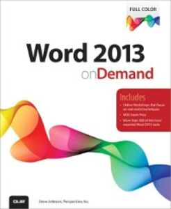 Foto Cover di Word 2013 on Demand, Ebook inglese di Perspection Inc.,Steve Johnson, edito da Pearson Education