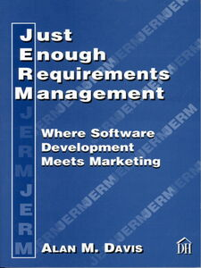 Ebook in inglese Just Enough Requirements Management Davis, Alan