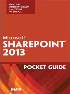 Ebook in inglese Microsoft® SharePoint® 2013 Pocket Guide Curry, Ben