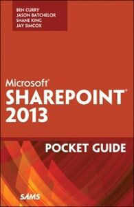 Foto Cover di Microsoft SharePoint 2013 Pocket Guide, Ebook inglese di Ben Curry, edito da Pearson Education