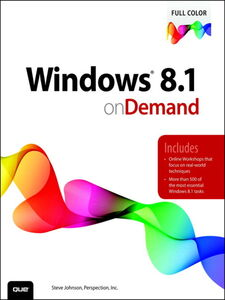 Foto Cover di Windows 8.1 on Demand, Ebook inglese di Steve Johnson,Perspection Inc., edito da Pearson Education