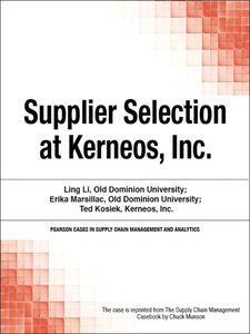 Ebook in inglese Supplier Selection at Kerneos, Inc. Munson, Chuck