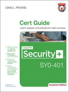 Ebook in inglese CompTIA Security+ SY0-401 Cert Guide, Academic Edition Prowse, David L.