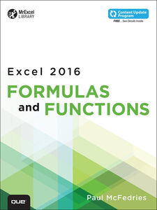 Ebook in inglese Excel 2016 Formulas and Functions McFedries, Paul