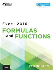 Excel 2016 Formulas and Functions