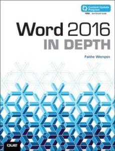 Ebook in inglese Word 2016 In Depth (includes Content Update Program) Wempen, Faithe