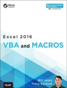 Foto Cover di Excel 2016 VBA and Macros (includes Content Update Program), Ebook inglese di Bill Jelen,Tracy Syrstad, edito da Pearson Education