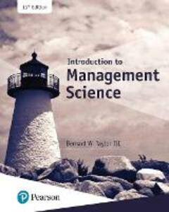 Introduction to Management Science - Bernard W. Taylor - cover