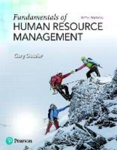 Fundamentals of Human Resource Management - Gary Dessler - cover