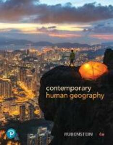 Contemporary Human Geography - James M. Rubenstein - cover