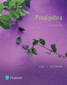 Mylab Math with Pearson Etext -- Standalone Access Card -- For Prealgebra - Margaret L Lial,Diana Hestwood - cover