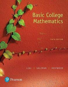 Mylab Math with Pearson Etext -- Standalone Access Card -- For Basic College Math - Marge Lial,Stanley Salzman,Diana Hestwood - cover