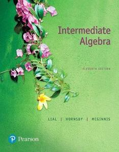 Mylab Math with Pearson Etext -- Standalone Access Card -- For Intermediate Algebra - Margaret L Lial,John Hornsby,Terry McGinnis - cover