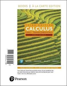 Single Variable Calculus: Early Transcendentals, Books a la Carte Edition - William L Briggs,Lyle Cochran,Bernard Gillett - cover