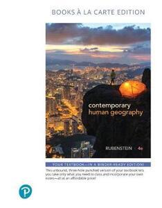 Contemporary Human Geography, Books a la Carte Edition - James M. Rubenstein - cover