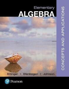 Mylab Math with Pearson Etext -- Standalone Access Card -- For Elementary Algebra: Concepts and Applications with Integrated Review - Marvin L Bittinger,David J Ellenbogen,Barbara L Johnson - cover